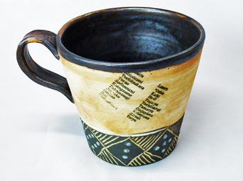 アンティーク調マグカップ(英字新聞柄)2.JPG