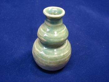 ミニ花器(ひょうたん青緑色)2.jpg
