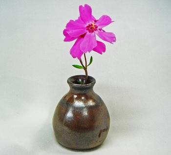 ミニ花器(赤油滴)1.jpg