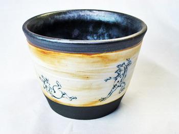 鳥獣戯画フリーカップ(アンティーク調)A-1.JPG