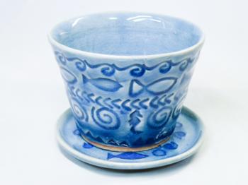 お魚花印 フリーカップ(青)1.png