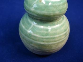 ミニ花器(ひょうたん青緑色)12.jpg