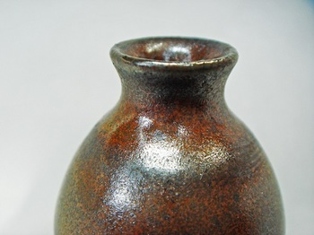 ミニ花器(赤油滴)6.jpg