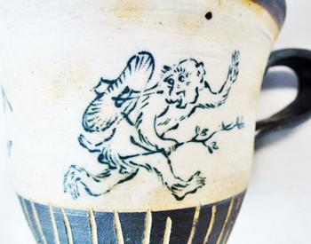 鳥獣戯画のカップ&ソーサーのセット7.JPG
