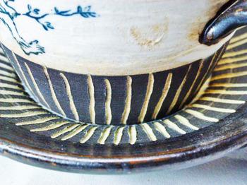 鳥獣戯画のカップ&ソーサーのセット9.JPG