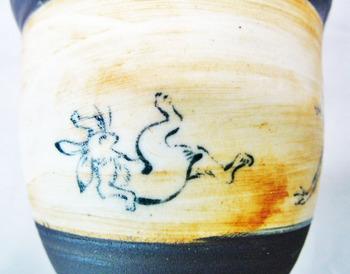 鳥獣戯画フリーカップ(アンティーク調)A-9.JPG